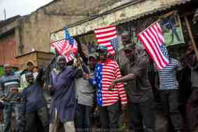 Kenyans in the country's capital Nairobi wake to celebrations and newspapers headlining US President Barack Obama's arrival for an official 4 day East Africa state visit on July 25, 2015. In addition to visiting Kenya he will also visit Ethiopia. Obama's father, Barack Obama Senior was born in Kenya in 1936. President Obama has visited Kenya in the past, most recently in 2006. Obama has a large following amongst Kenyan citizens because of his family lineage.